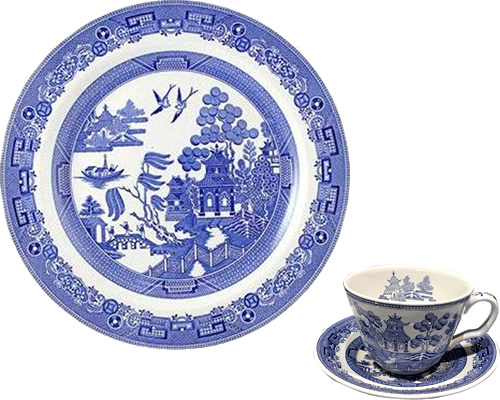 Spode Willow from the Georgian Blue Room Collection