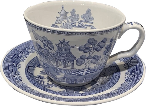 Spode Willow tea cup and saucer from the Georgian Blue Room Collection