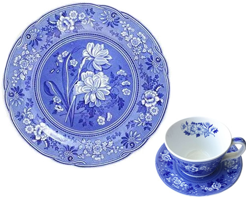 Spode Botanical from the Georgian Blue Room Collection