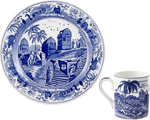 Spode Caramanian from the Traditions Blue Room Collection