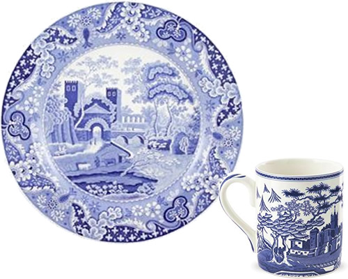 Spode Castle from the Traditions Blue Room Collection