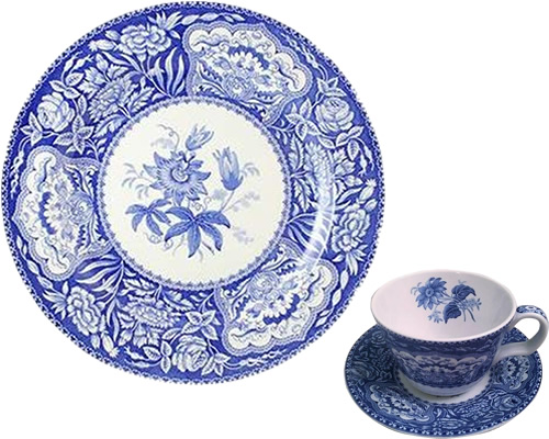 Spode Floral from the Georgian Blue Room Collection