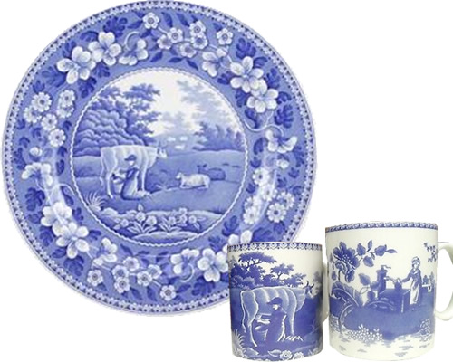 Spode Milkmaid from the Traditions Blue Room Collection