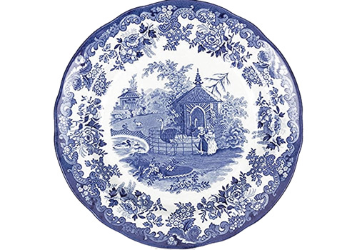 Spode Ostrich or The Ostrich House from the Zoological Blue Room Collection