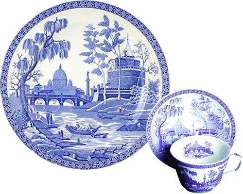 Spode Rome from the Georgian Blue Room Collection