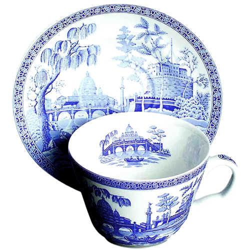 Spode Rome cup and saucer from the Georgian Blue Room Collection