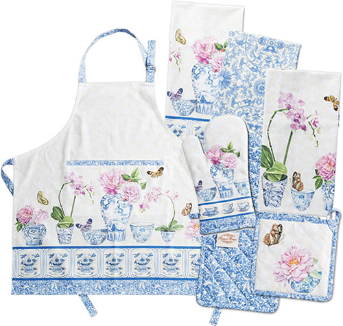 Maison d' Hermine Canton Apron, Kitchen Towels, Pot Holders and Oven Mitts