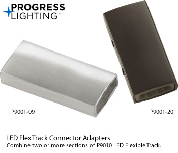 Progress Lighting P9001-09, P9001-20 LED Flex Track Connector Adapters