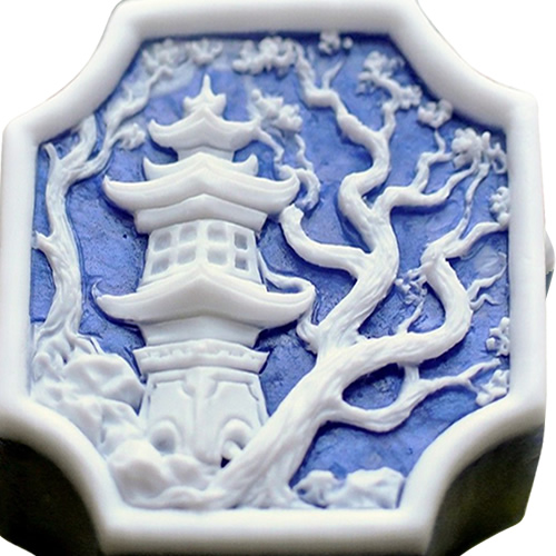 Blue Willow Soap with the Pagoda and Plum Tree