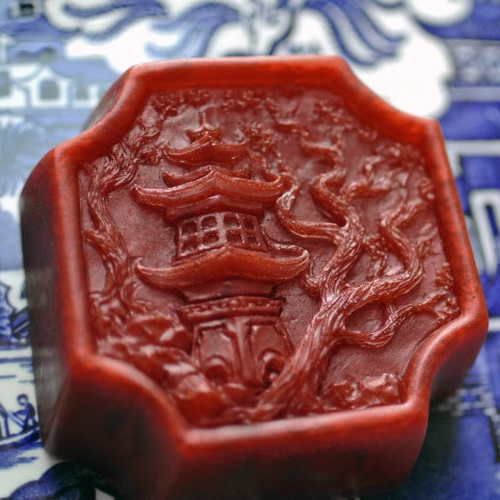 Red Pagoda soap with the Willow and Pagoda