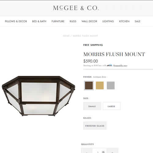 McGee & Co. Morris Flush Mount Ceiling Lights