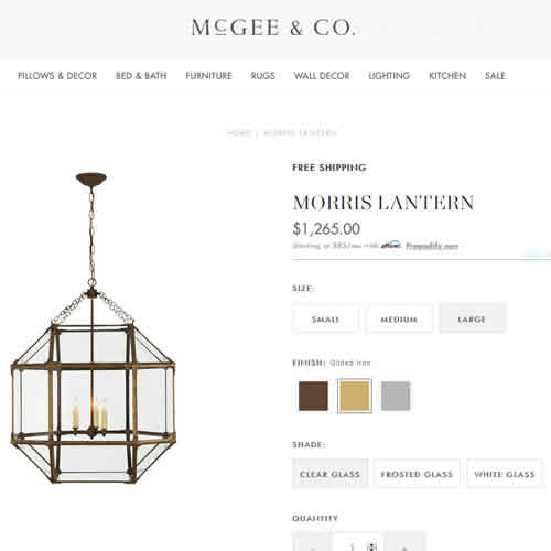 McGee & Co. Morris Lanterns
