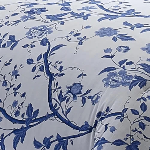 Closeup of the Charlotte print fabric from Laura Ashley
