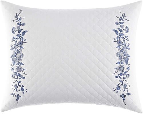 Quilted Embroidered Charlotte Breakfast Pillow from Laura Ashley