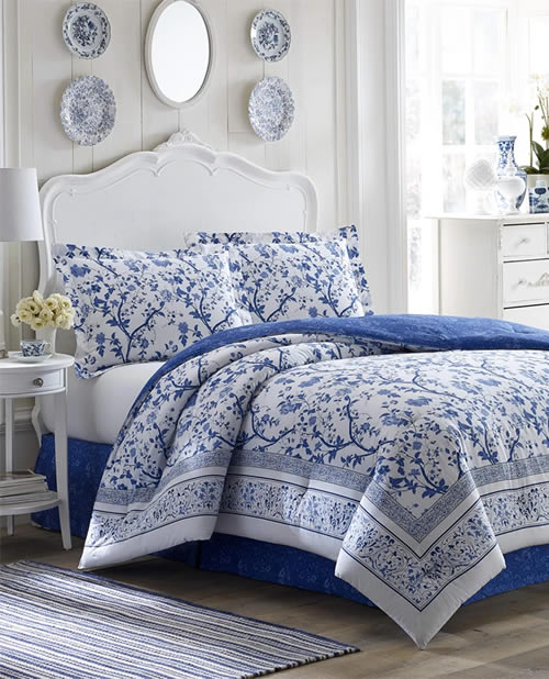 Laura Ashley Charlotte Blue Duvet Set