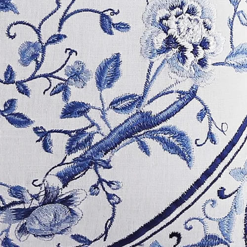 Closeup of the embroidered Square Pillow from Laura Ashley Charlotte