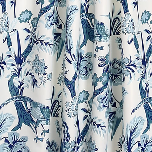 Lush Decor Blue and White curtain fabric