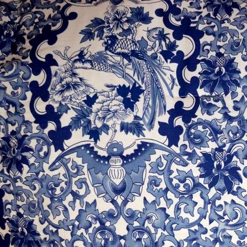 Ralph Lauren Tamarind Bird Pattern in Porcelain Blue and White