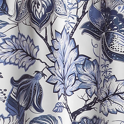 Lush Décor Cynthia Blue and White Jacobean Print