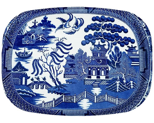 Marye-Kelley Blue Willow Melamine Platter