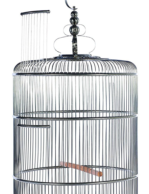 The large door on Dynasty, the largest Prevue Pet Products Stainless Steel Bird Cage