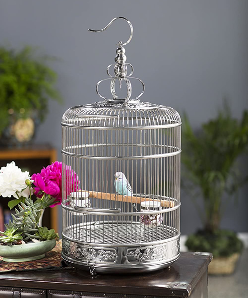 Lotus, the smallest Prevue Pet Products Stainless Steel Bird Cage