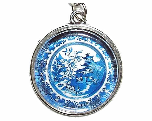 Blue Willow Plate Charm