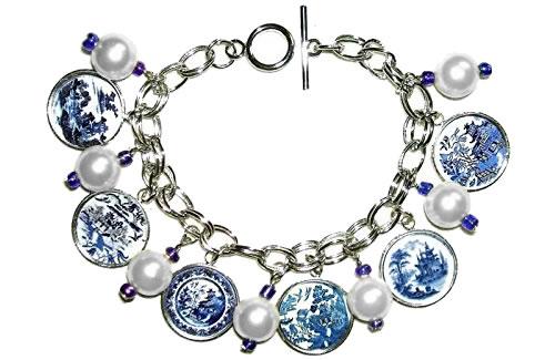 Blue Willow Charm Bracelet