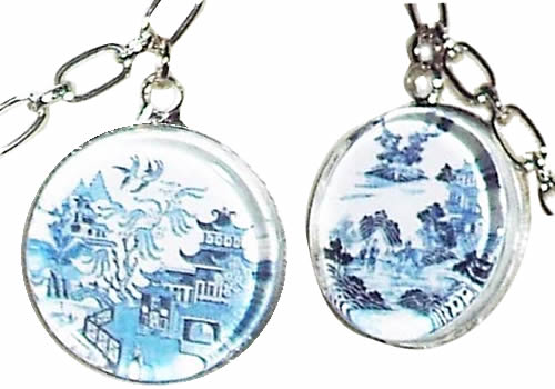 Blue Willow Charms
