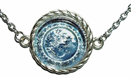 Blue Willow Plate Choker