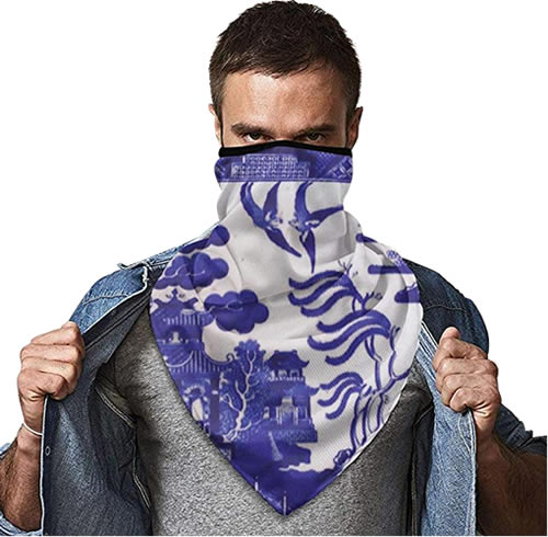 Blue Willow Gaiter Face Mask
