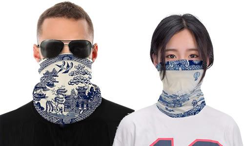 Blue Willow Gaiter Face Masks