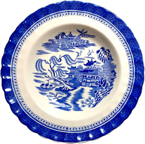 Spode Mandarin Blue Willow Plate