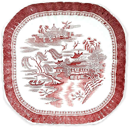 Spode Mandarin Willow Plate - Red Willow