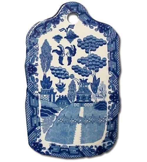 Ceramic Blue Willow Serving Board from eBay