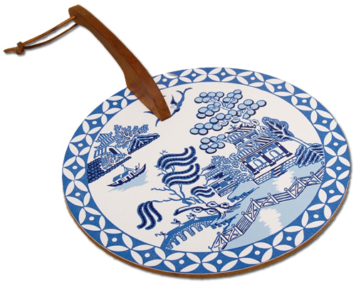 Laminate on Cork Blue Willow Hot Plate from eBay