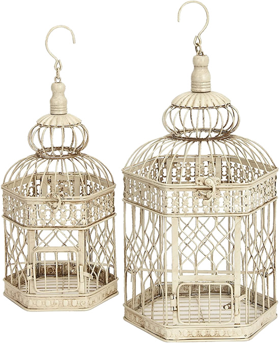 Deco 79 Decorative Metal Birdcages