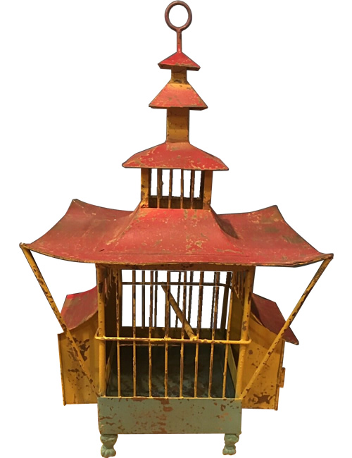 Metal Pagoda Birdcage from eBay