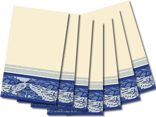 Linnea Blue Willow Design Guest Hand Towels