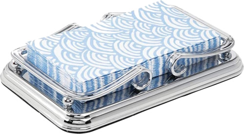 Metal Guest Disposable Paper Hand Towel Storage Tray