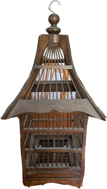 Vintage Pagoda Birdcage from eBay