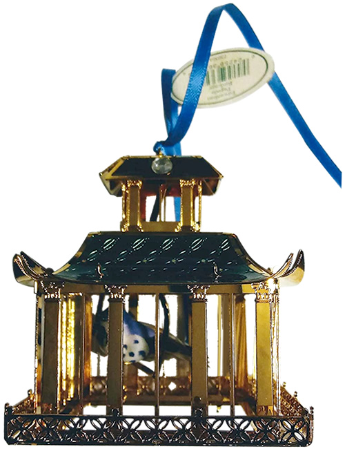 Waterford Holiday Heirlooms Edwardian Pagoda Birdcage Ornament