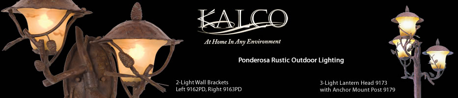 Kalco Ponderosa Outdoor Lighting Collection