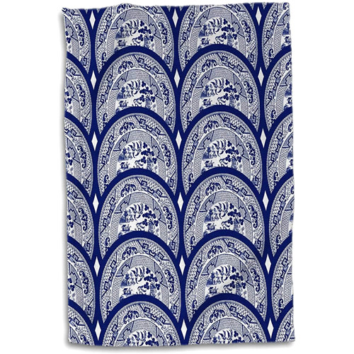 3dRose Blue Willow Plates Hand Towel