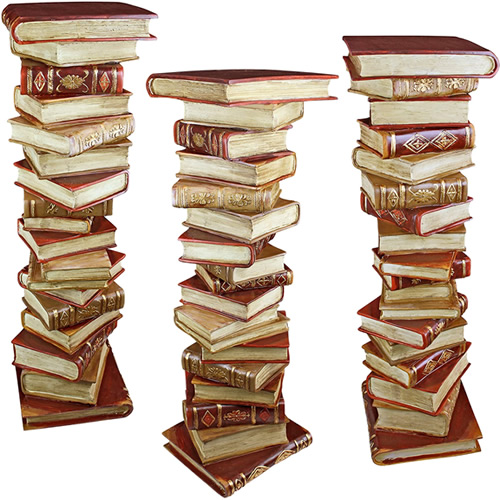 Design Toscano KY70738 Power of Books Pedestals