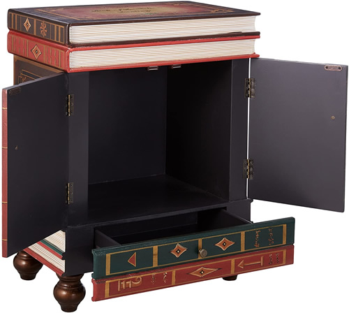 Design Toscano SK3345 The Lord Byron Stacked Books End Table