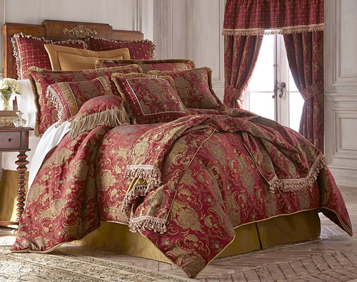 Sherry Kline Home China Art Red Bedding