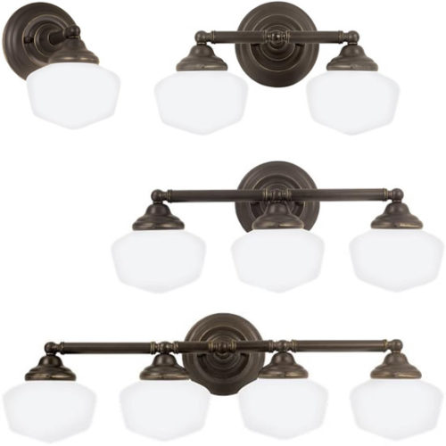 Sea Gull Academy Schoolhouse Bath Lighting