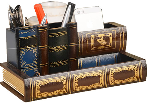 Tosnail Library Book Design Desk Organizer