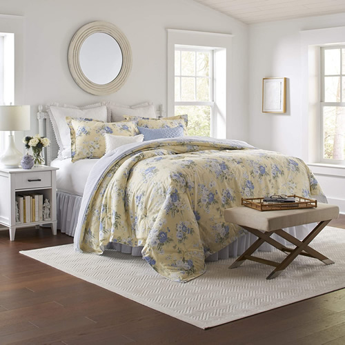 Laura Ashley Home Maybelle Bedding with Coordinating Pillows